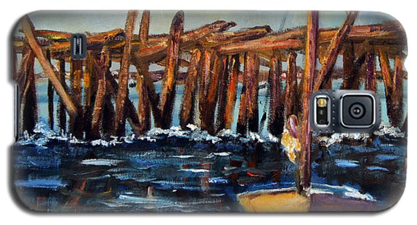 Galaxy S5 Case featuring the painting Waiting To Sail by Michael Helfen