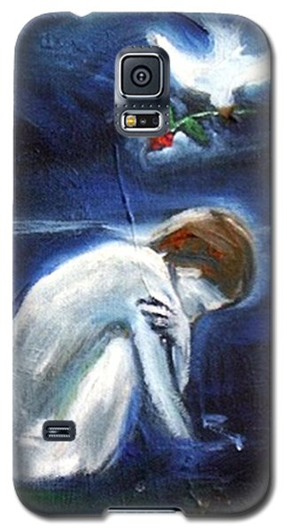 Galaxy S5 Case featuring the painting Waiting by Winsome Gunning