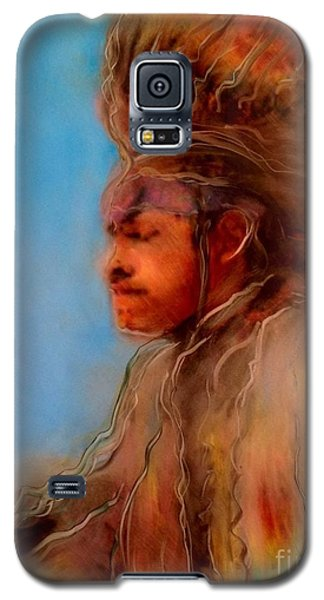 Galaxy S5 Case featuring the painting Wakantanka Maka Kin Kaye by FeatherStone Studio Julie A Miller