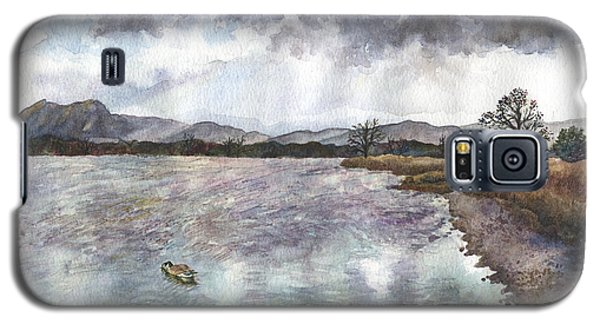 Galaxy S5 Case featuring the painting Walden Ponds On An April Evening by Anne Gifford