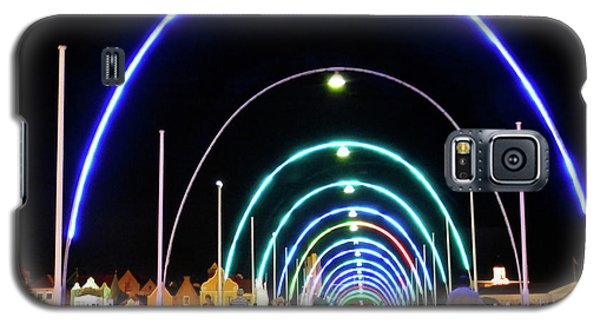Galaxy S5 Case featuring the photograph Walk Along The Floating Bridge, Willemstad, Curacao by Kurt Van Wagner
