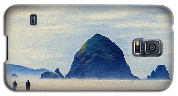 Galaxy S5 Case featuring the painting Walk On The Beach by Jeff Kolker
