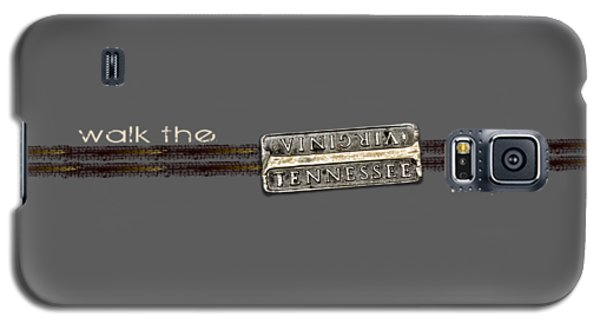 Walk The Line Light Lettering Galaxy S5 Case by Heather Applegate