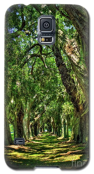 Galaxy S5 Case featuring the photograph Walk With Me Avenue Of Oaks St Simons Island Art by Reid Callaway