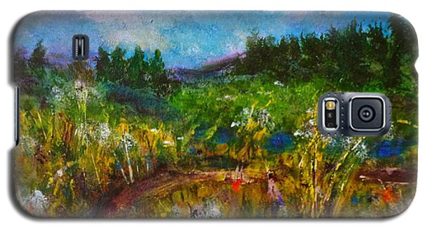 Galaxy S5 Case featuring the painting Walk With Me by Claire Bull