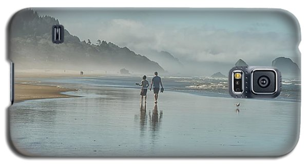 Walking Cannon Beach Galaxy S5 Case by CR  Courson