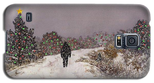 Galaxy S5 Case featuring the painting Walking Into The Light by Anne Gifford
