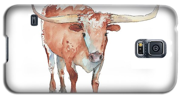 Walking Tall Texas Longhorn Watercolor And Ink By Kmcelwaine Galaxy S5 Case