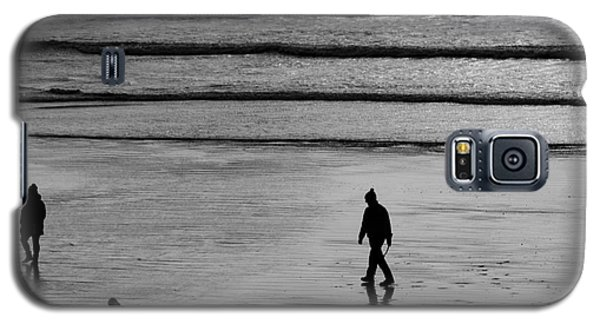 Galaxy S5 Case featuring the photograph Walking The Dog At Marazion by Brian Roscorla