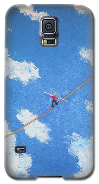 Galaxy S5 Case featuring the painting Walking The Line by Thomas Blood