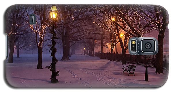 Walking The Path On Salem Common Galaxy S5 Case by Jeff Folger