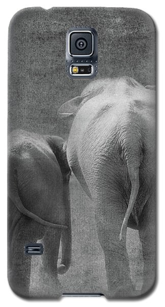 Galaxy S5 Case featuring the photograph Walking Together by Rebecca Cozart