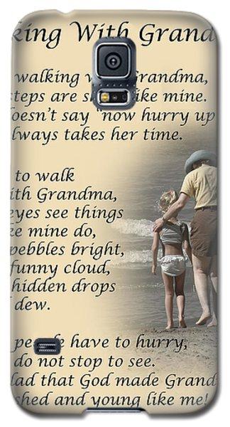 Walking With Grandma Galaxy S5 Case