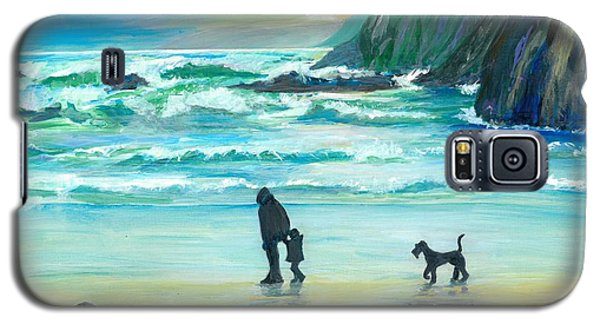 Walking With Grandpa - Painting Galaxy S5 Case