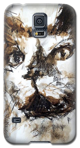 Galaxy S5 Case featuring the mixed media Walnut And Charcoal by Mary Schiros