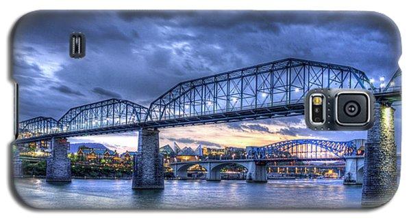 Walnut Street Pedestrian Bridge Sunset Chattanooga Tennessee Art Galaxy S5 Case