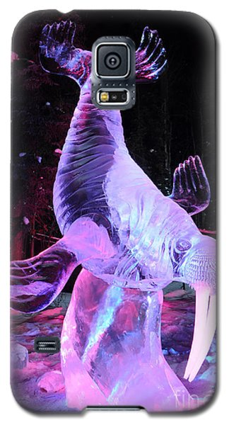Galaxy S5 Case featuring the photograph Walrus Ice Art Sculpture - Alaska by Gary Whitton