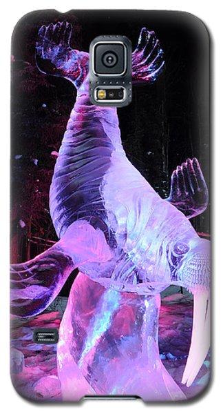 Walrus Ice Art Sculpture - Alaska Galaxy S5 Case by Gary Whitton