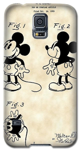 Walt Disney Mickey Mouse Patent 1929 - Vintage Galaxy S5 Case by Stephen Younts