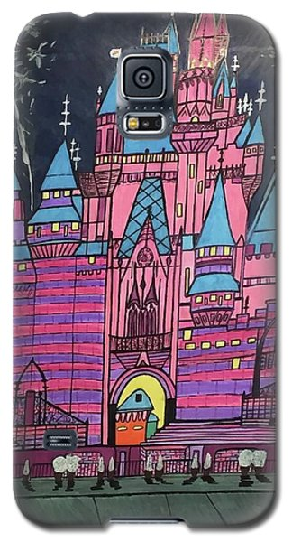 Galaxy S5 Case featuring the painting Walt Disney World Cinderrela Castle by Jonathon Hansen