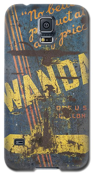Galaxy S5 Case featuring the photograph Wanda Motor Oil Vintage Sign by Christina Lihani