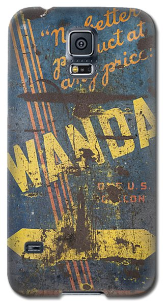 Wanda Motor Oil Vintage Sign Galaxy S5 Case