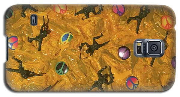 Galaxy S5 Case featuring the painting War And Peace by Thomas Blood