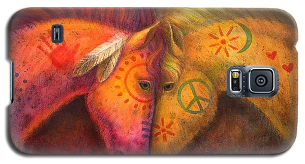 Galaxy S5 Case featuring the painting War Horse And Peace Horse by Sue Halstenberg
