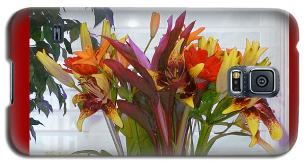 Warm Colored Flowers Galaxy S5 Case