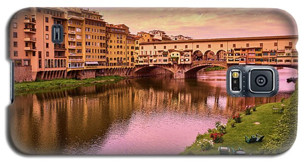 Sunset At Ponte Vecchio In Florence, Italy Galaxy S5 Case