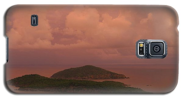 Warm Sunset Palette Of Inner And Outer Brass Islands From St. Thomas Galaxy S5 Case
