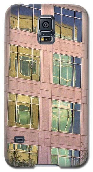 Galaxy S5 Case featuring the photograph Warped Window Reflectionss by Linda Phelps