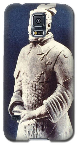 Galaxy S5 Case featuring the photograph Warrior Of The Terracotta Army by Heiko Koehrer-Wagner