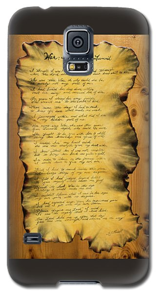 War's Poem Galaxy S5 Case