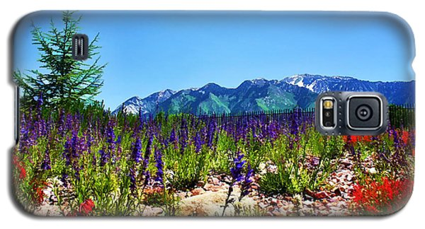 Wasatch Mountains In Spring Galaxy S5 Case by Tracie Kaska