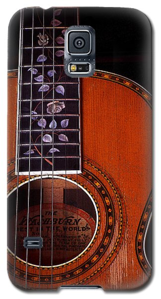 Galaxy S5 Case featuring the photograph Washburn Guitar by Jim Mathis
