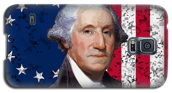 Washington And The American Flag Galaxy S5 Case by War Is Hell Store
