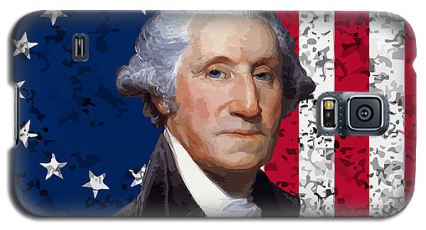 Politicians Galaxy S5 Case - Washington And The American Flag by War Is Hell Store