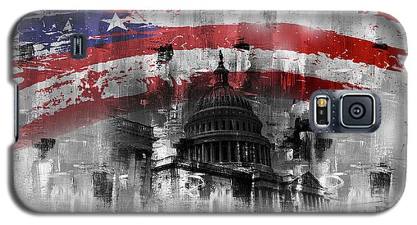 Galaxy S5 Case featuring the painting Washington Dc Building 01a by Gull G