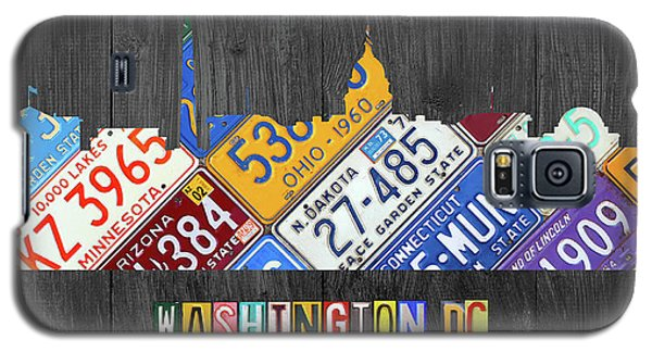 Washington Dc Skyline Recycled Vintage License Plate Art Galaxy S5 Case