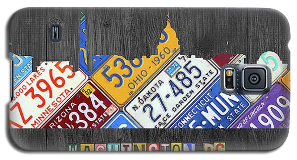 Washington Dc Skyline Recycled Vintage License Plate Art Galaxy S5 Case by Design Turnpike
