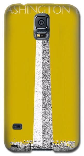 Washington Dc Skyline Washington Monument - Gold Galaxy S5 Case