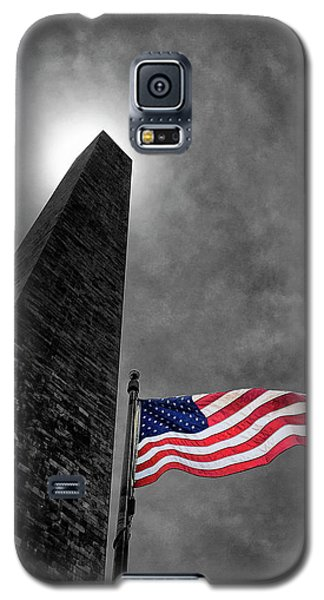 Washington Monument And The Stars And Stripes Galaxy S5 Case
