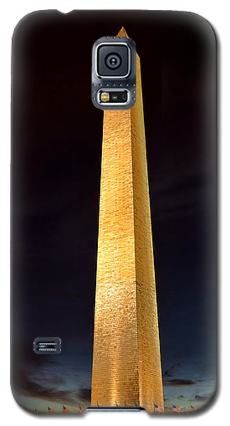 Washington Monument At Night  Galaxy S5 Case by Olivier Le Queinec