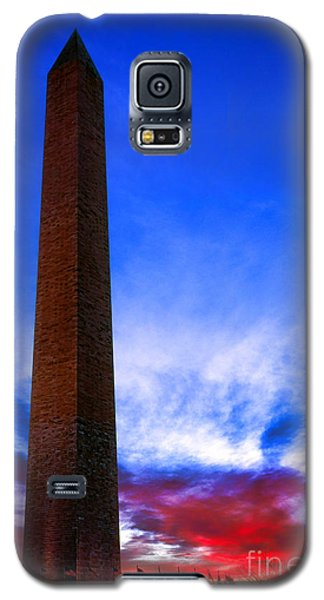 Washington Monument Glory Galaxy S5 Case by Olivier Le Queinec