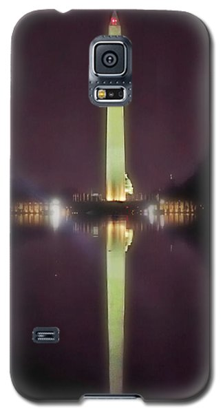 Galaxy S5 Case featuring the photograph Washington Monument by Lorella Schoales