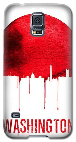 Washington Skyline Red Galaxy S5 Case by Naxart Studio