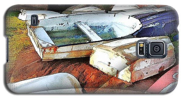 Galaxy S5 Case featuring the photograph Wat-0012 Tender Boats by Digital Oil