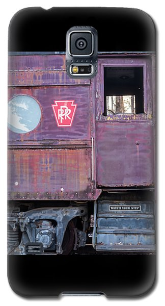 Galaxy S5 Case featuring the photograph Watch Your Step Vintage Railroad Car by Terry DeLuco