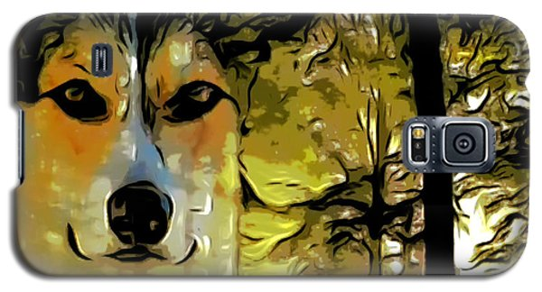 Galaxy S5 Case featuring the digital art Watcher Of The Woods by Kathy Kelly